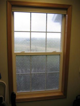 Bubble Wrap Window Insullation After sizing it to your windows