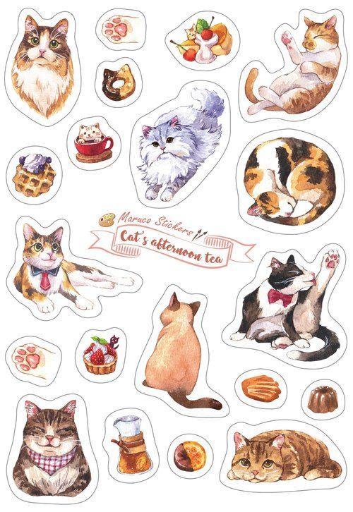 Gato gatos pegatinas animal portátil pegatinas portátil pegatinas lámina sticker