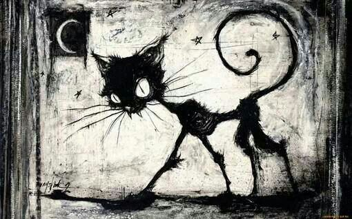 Creepy kitty | Halloween | Pinterest