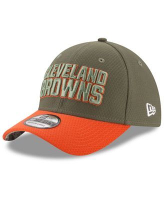 59cf8a482 New Era Cleveland Browns Salute To Service 39THIRTY Cap - Brown L XL ...