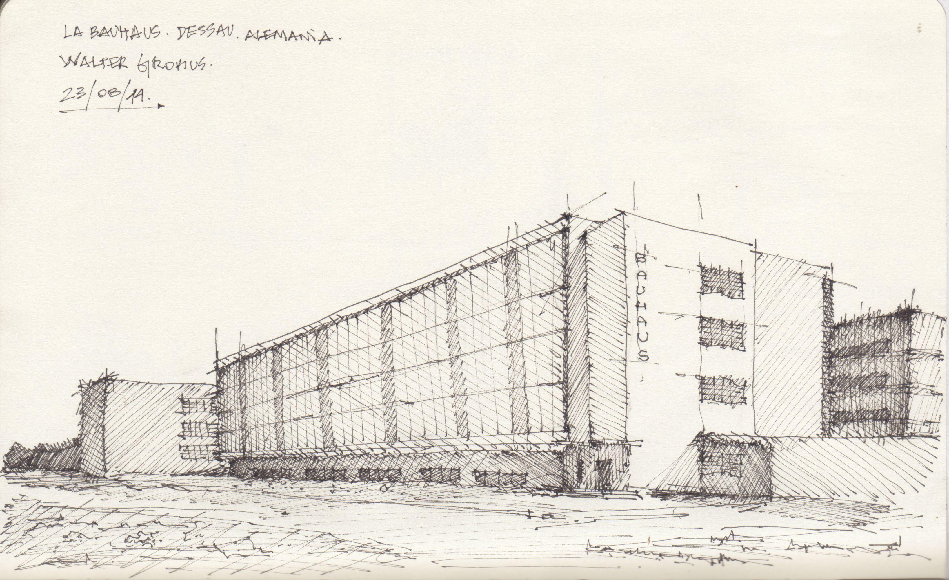 Bauhaus Baumarkt Dessau croquis bauhaus dessau por facundo alvarez bitacora