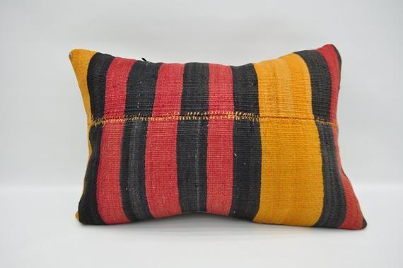 "kilim pillow 16""x24"" cushion cover vintage lumbar handmade sofa pillow oriental pillow case boho pil"