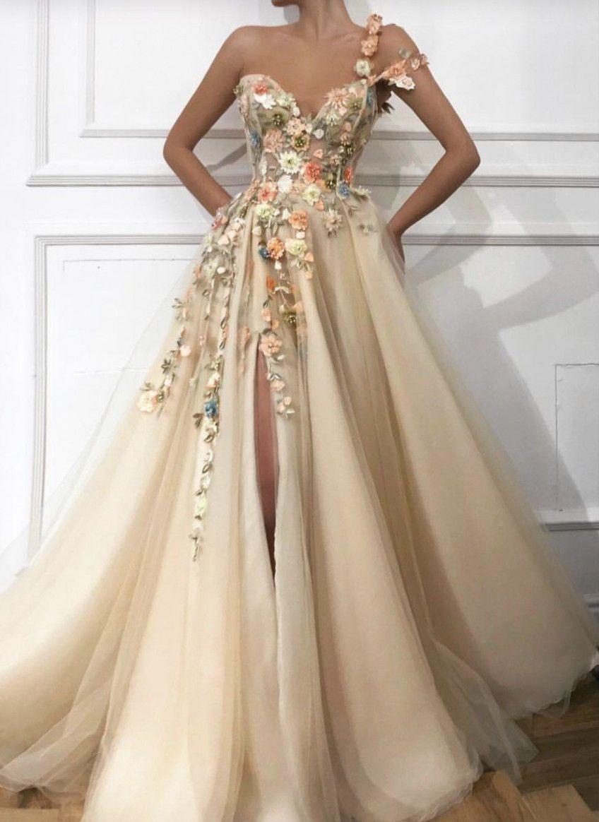 8 Abendkleider Lang Cremefarben in 8  Schöne kleider