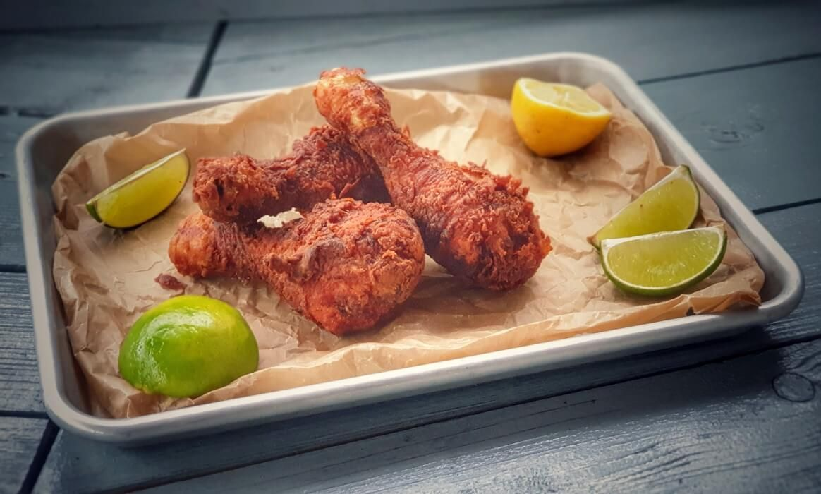 KFC Chicken   frittiertes Hähnchen