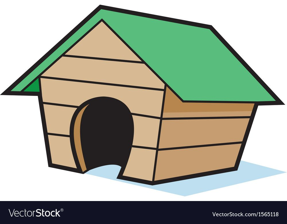 Cartoon Empty Dog House Vector Image On Dog House Cartoon Dog