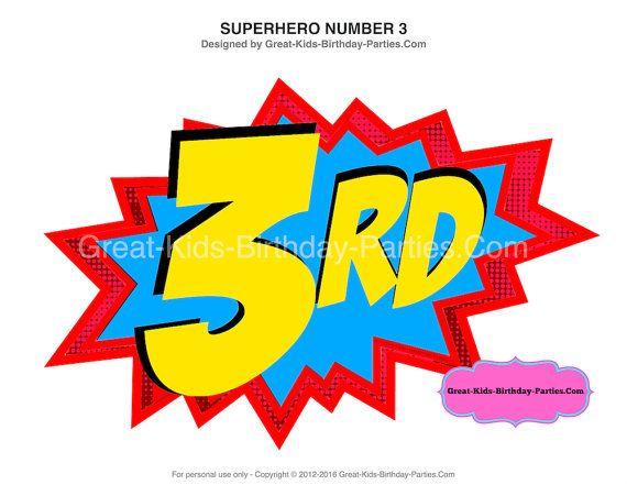 superhero number 3 superhero printables superhero birthday