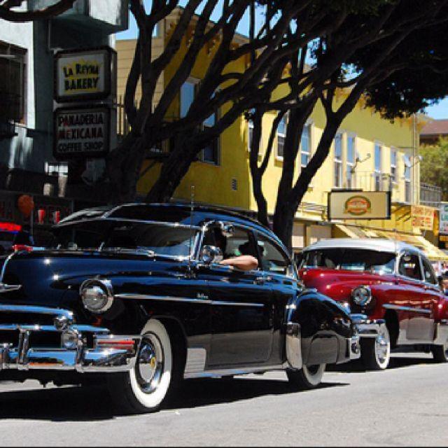 1949 Chevy Fleetline Deluxe Cruising In San Francisco