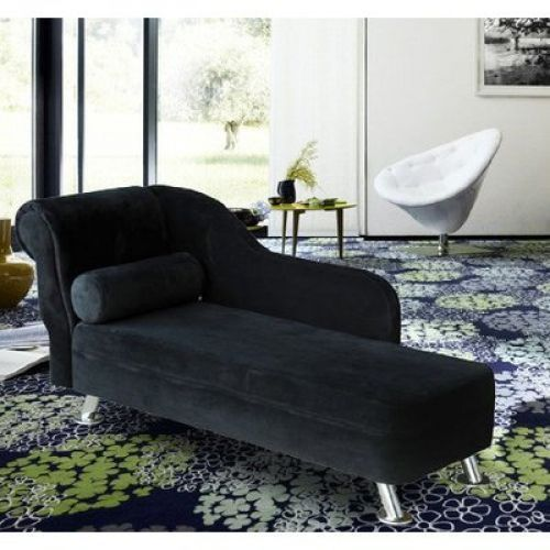 Indoor Chaise Lounge Chair Black Modern Sofa Living Room Chair ...