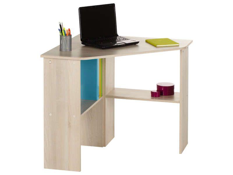 Bureau informatique d angle angus coloris acacia vente de bureau