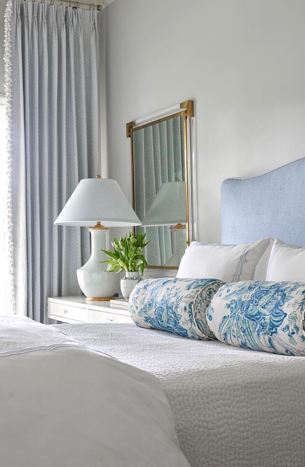 Pretty Blue Guest Bedroom