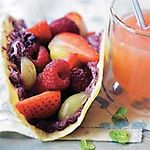 Tacos de fruta y ricotta