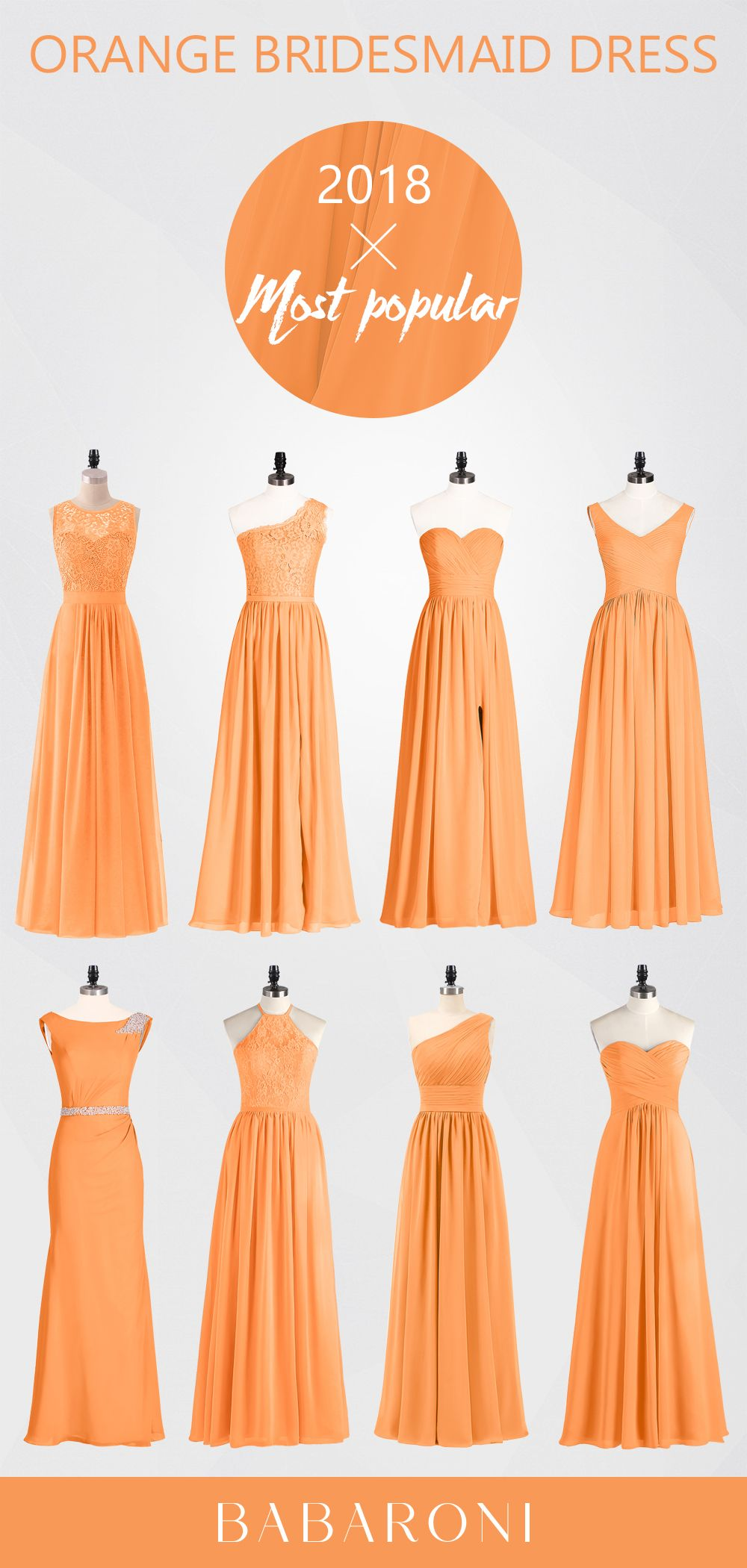 c29464f9d50 Orange is usually not the color of the bridesmaid dress we often think of