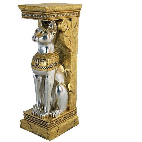 Egyptian Cat Goddess Bastet Pedestal Statue - NE75327 - Design