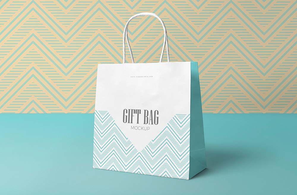 Download Free Attractive Gift Bag Mockup Bag Mockup Free Mockup Free Mockup Templates