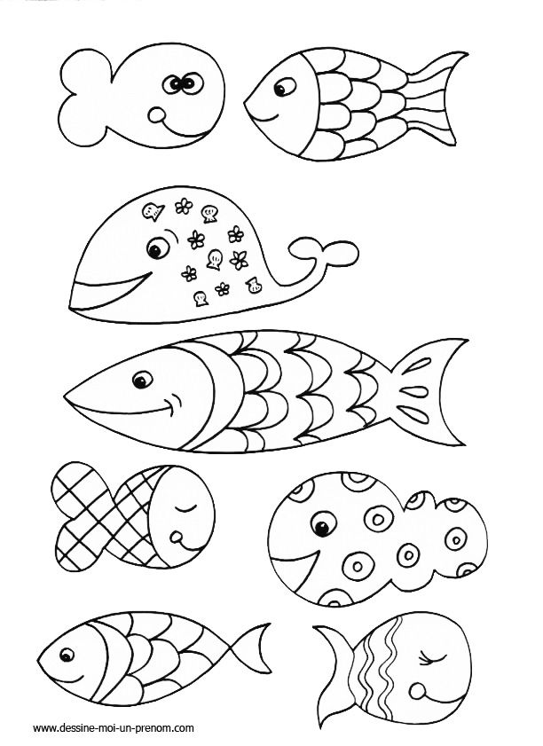 Coloriage poisson d avril imprimer ny r pinterest coloriage poisson poisson d 39 avril - Dessin de poisson facile ...