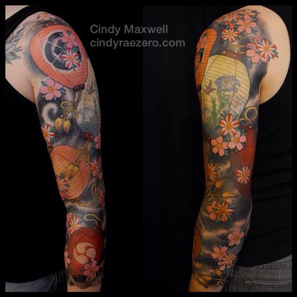 Japanese Lantern Sleeve Tattoo By Cindy Maxwell Seattle Wa Tattoos Japanese Tattoo Lantern Tattoo
