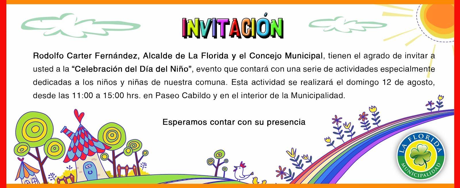 Tarjetas De Invitacion Del Dia Del Niño Para Pantalla Hd 2
