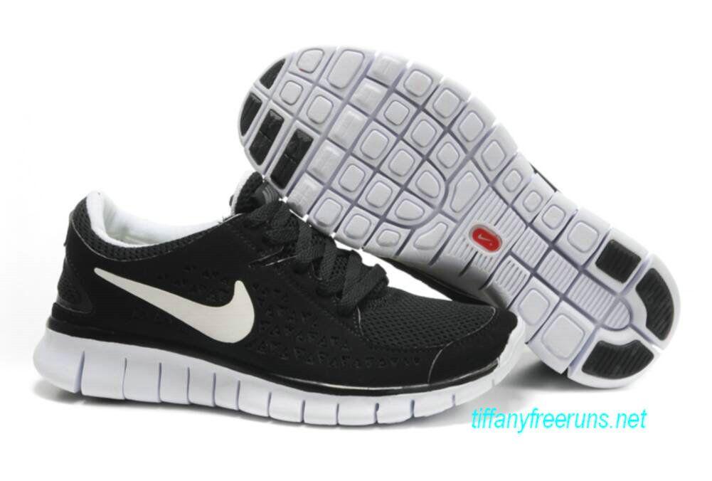 Womens Nike Free Runs Black White Shoes : Collecting Cheap