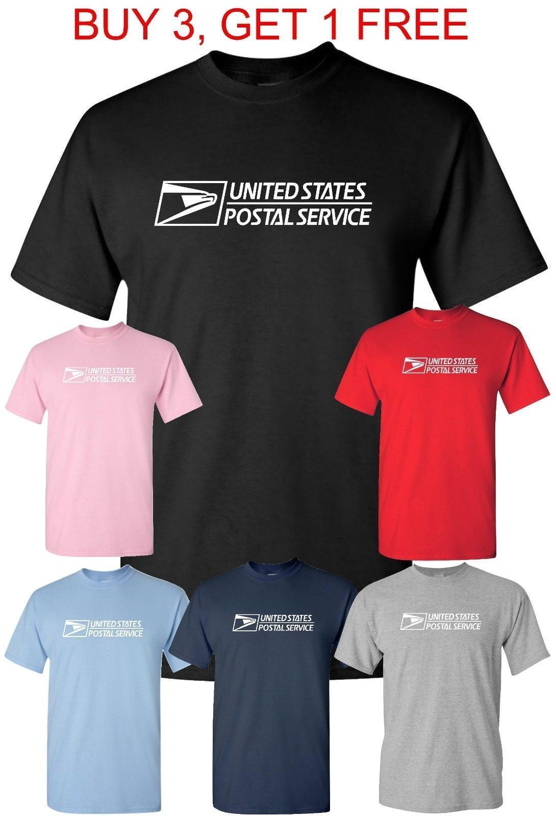 USPS TShirt Postal Service Tee post Office T shirt 10.94