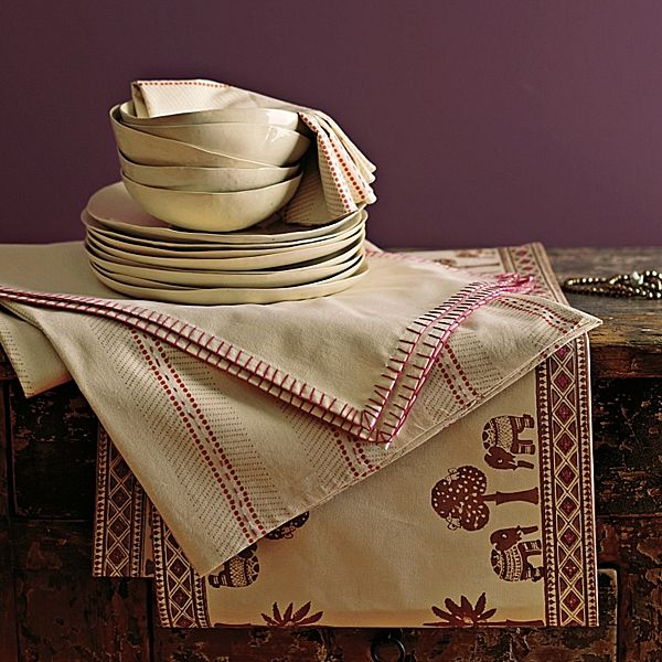 Elephant Mombasa Table Runner Design Pictures