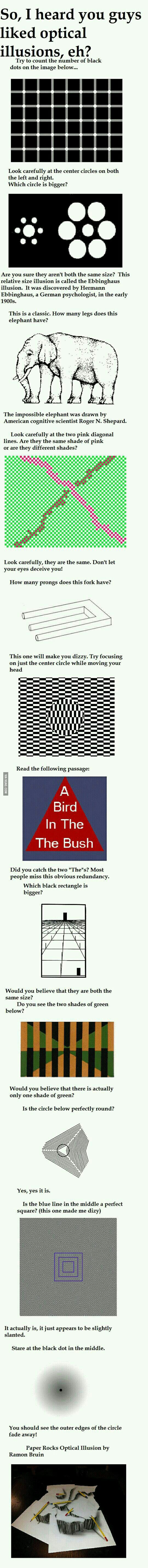 So You Like Optical Illusion?