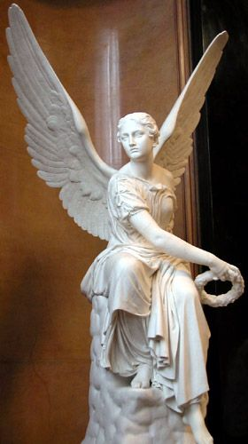 Seated Victoria Throwing A Wreath C 1842 By Christian Daniel Rauch 1777 1857 Sculpture Alte Nationalgalerie Berlin German Art Sculpture Art Sculpture