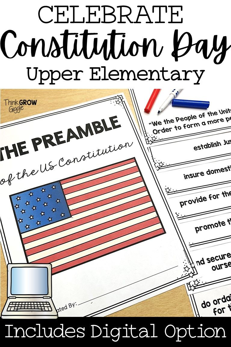 Constitution Day Activities Distance Learning Constitution Day Upper Elementary Social Studies Social Studies Lesson Plans [ 1152 x 768 Pixel ]