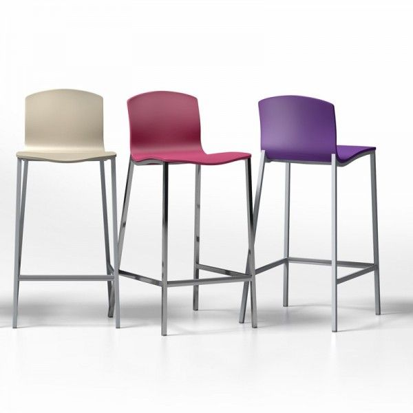 Tabouret snack ou bar design seven 8 couleurs 2 for Tabouret couleur ikea