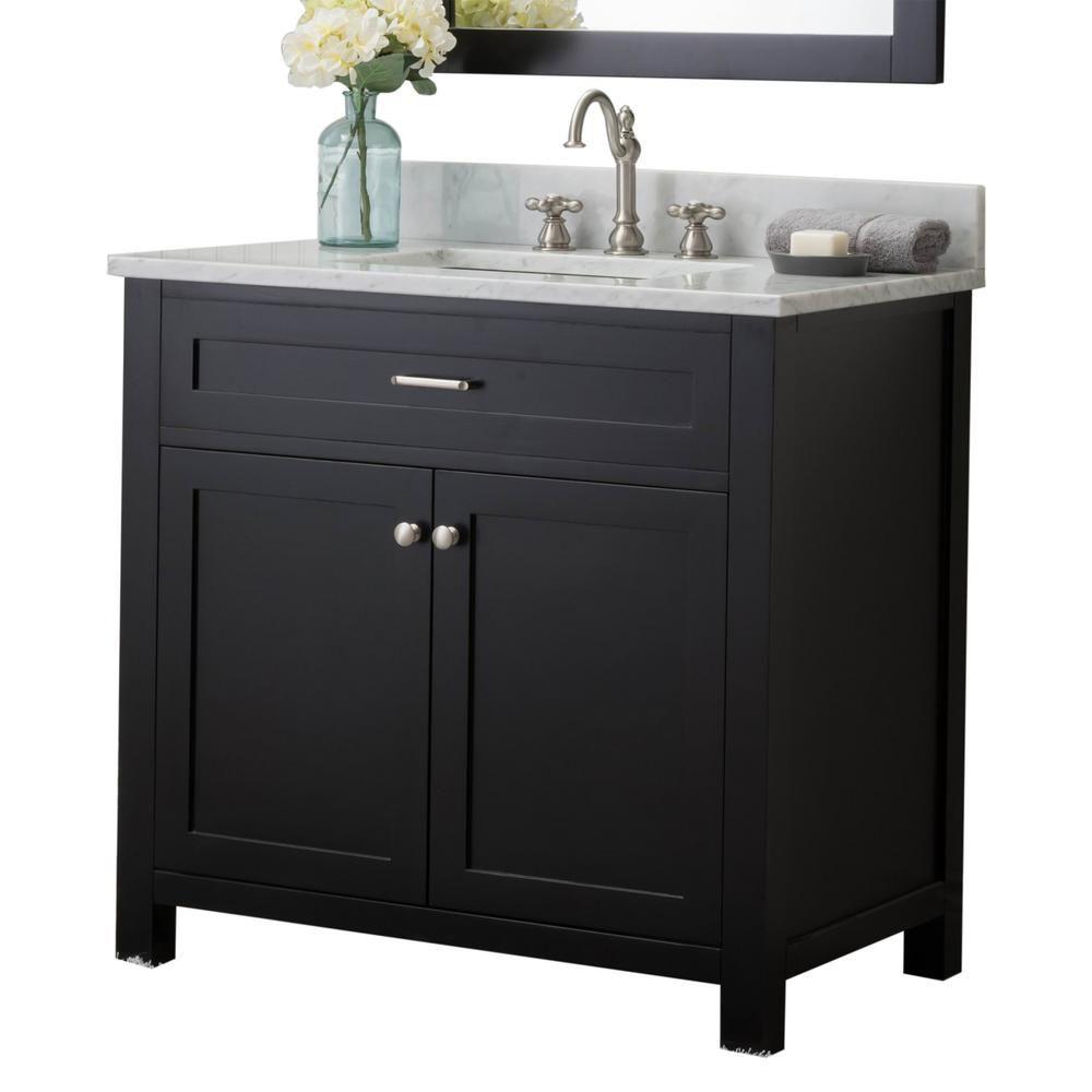 Home Elements Redmond 36 In W X 34 2 In H Bath Vanity In Linen
