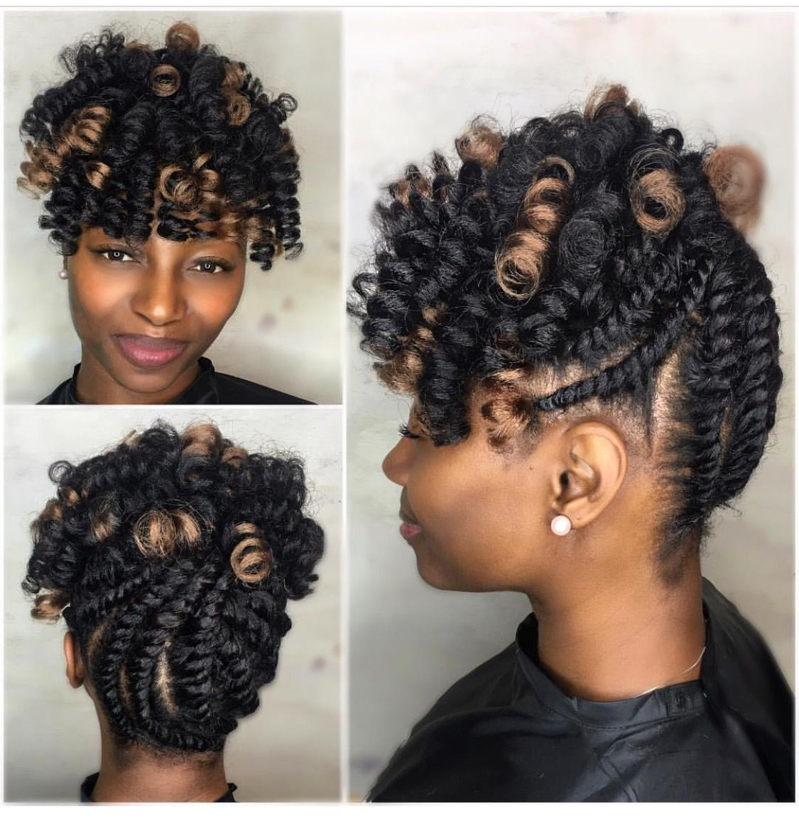 Up do with crochet hair | Natural hair braids, Hair styles, Long box braids