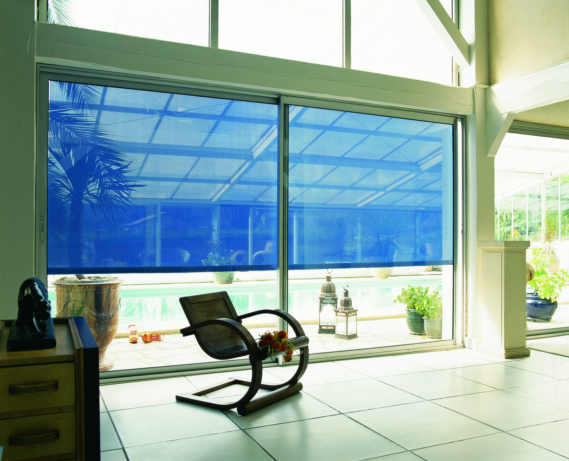 Window privacy ideas  modern retractable blinds and awnings issey internal blinds  home