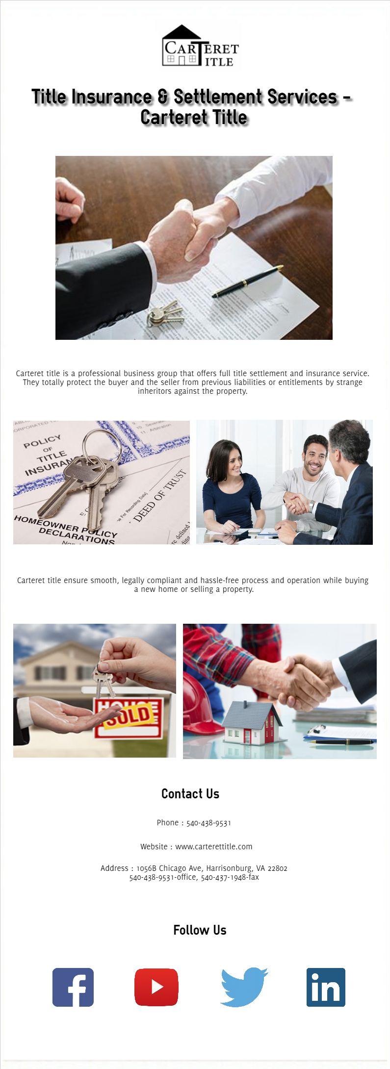 Title Insurance and Settlement Services Carteret Title