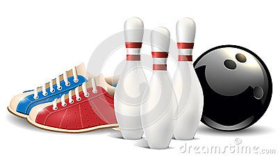 Bowling Objects Vector Clip Art Illustration  Bowling Vector