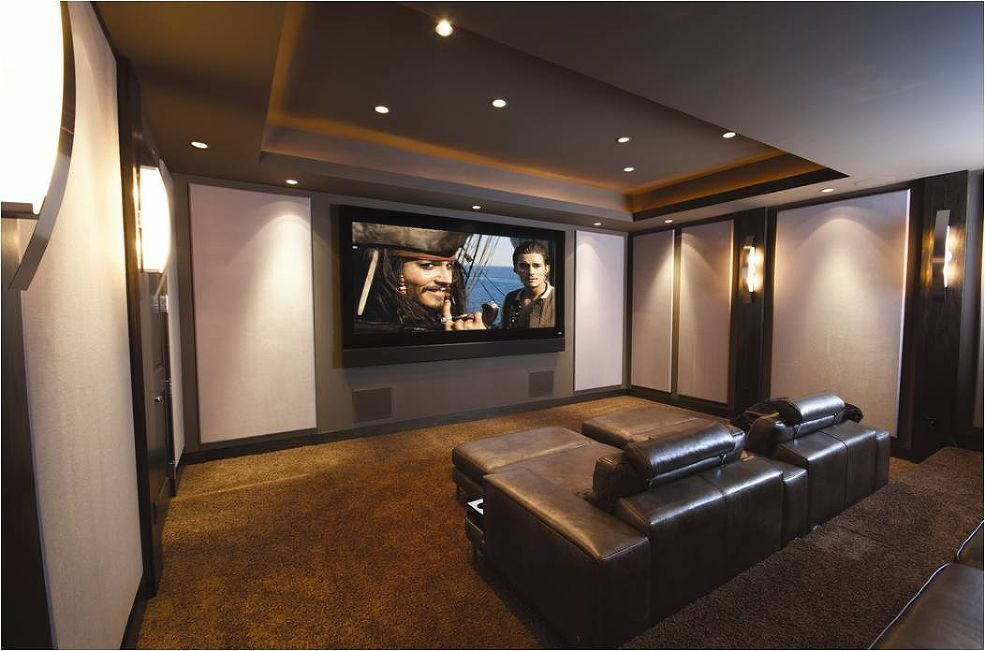Basement Home Theater Ideas 135 Fixed Frame Screen Pioneer In Wall Speakers View The Before And After Pictures Of This DIY Theate