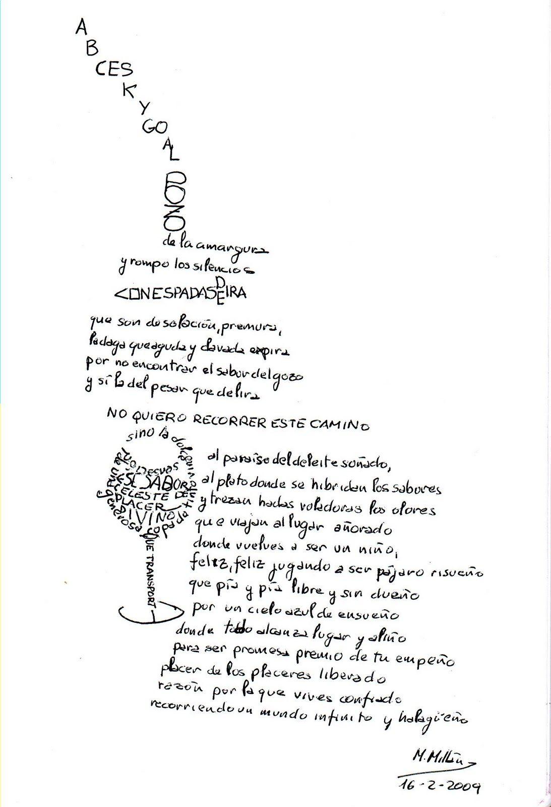Caligramas El Pozo De La Amargura Caligramas Poemas Caligramas Libros Objeto