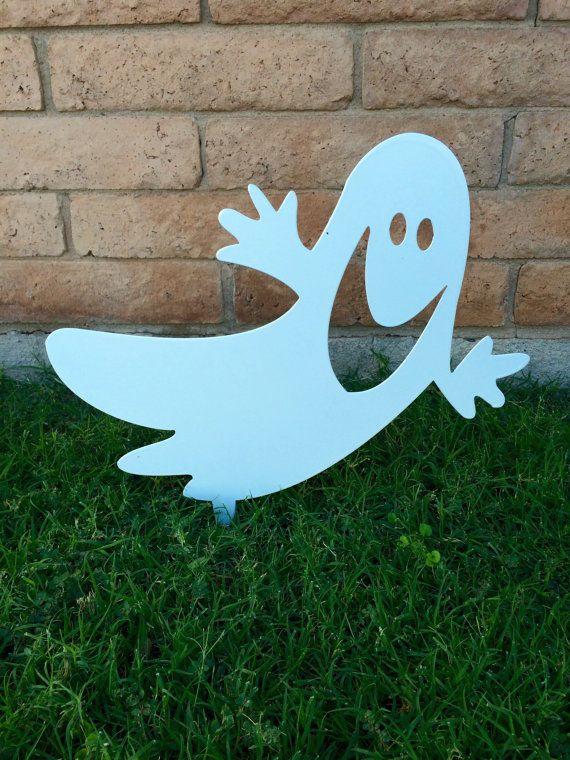 Ghost, Halloween Decor, Halloween Yard Sign, Halloween Ghost, Metal - outdoor ghosts halloween decorations