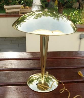 Lampe Paquebot Champignon En Laiton Art Deco Art Deco Deco Lampe