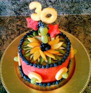 This is an all fruit cake I made for my husbands 30th birthday
