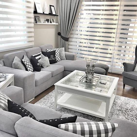 Some Ideas To You Grey Lovers Homedecor Designlovers Living Room BlindsLiving