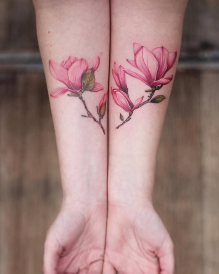 44 Beautiful Magnolia Tattoo Designs Page 2 Of 4 Tattooadore Magnolia Tattoo Tattoo Designs Floral Tattoo Design
