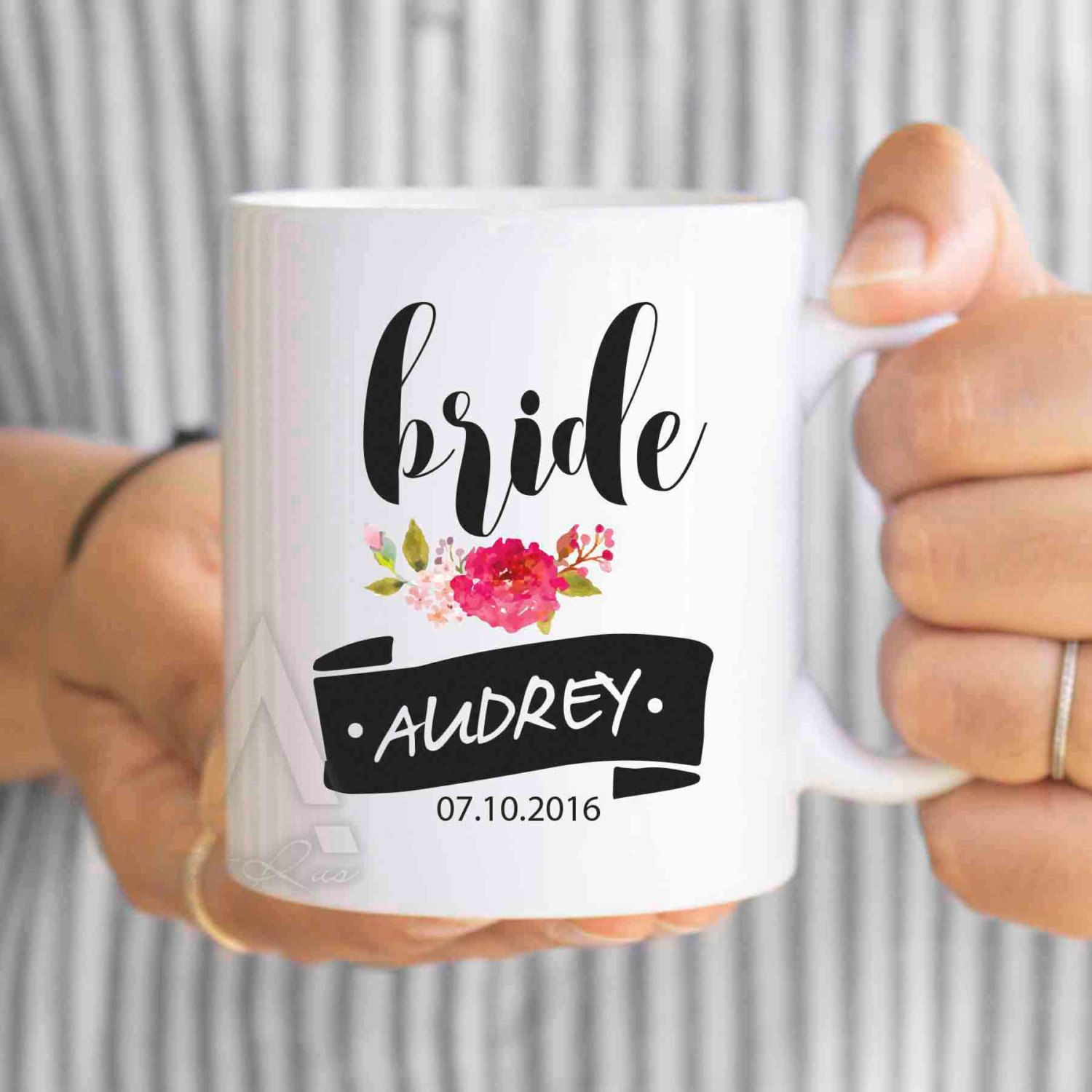 personalized wedding cups, wedding mugs, bride coffee mug, wedding ...