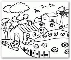 Resultado De Imagen Para Dibujos De Paisajes Sencillos Para Colorear Dibujos Para Colorear Paisajes Paisaje Para Colorear Paisajes Dibujos