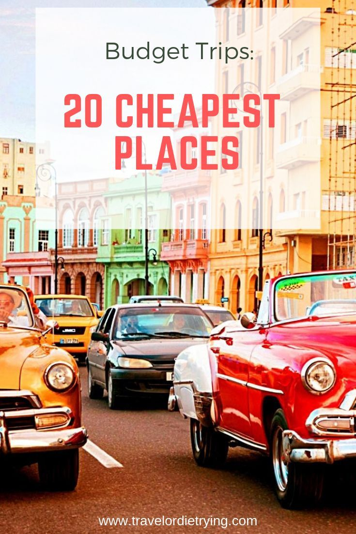 Once you get to your destination, though, you'll find yourself having adventures, exploring paradise beaches and jungles, and still living cheaper than you do at home. #travel #budgettraveling #cheapplaces #cheapdestination #travelinspiration #travelbucketlist #bucketlist #budgetvacation #cheapdestinations #travelordietrying