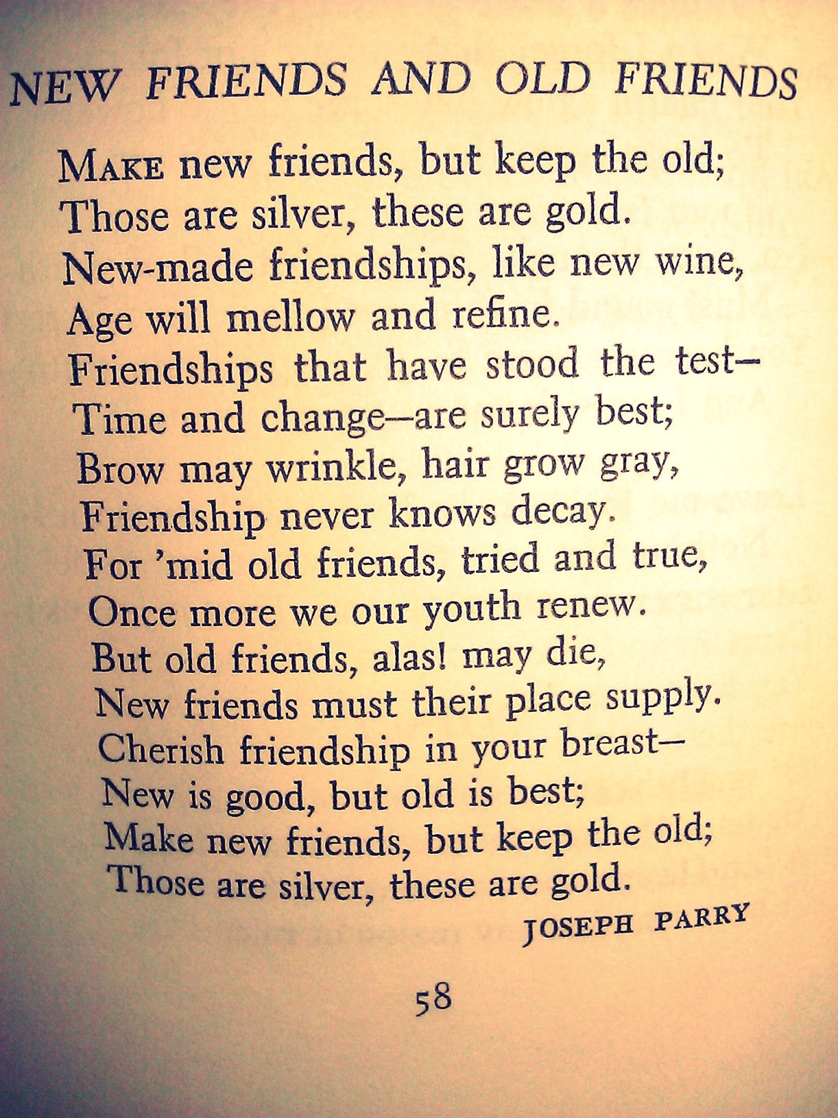 Poems for a new friend