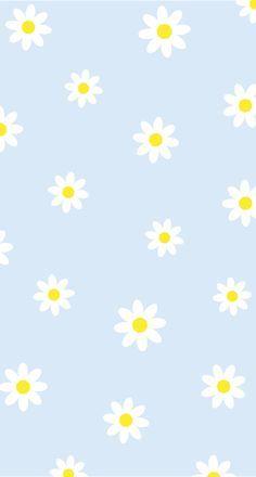 Cute Pastel Blue Daisy Pattern by ennbe | Redbubble