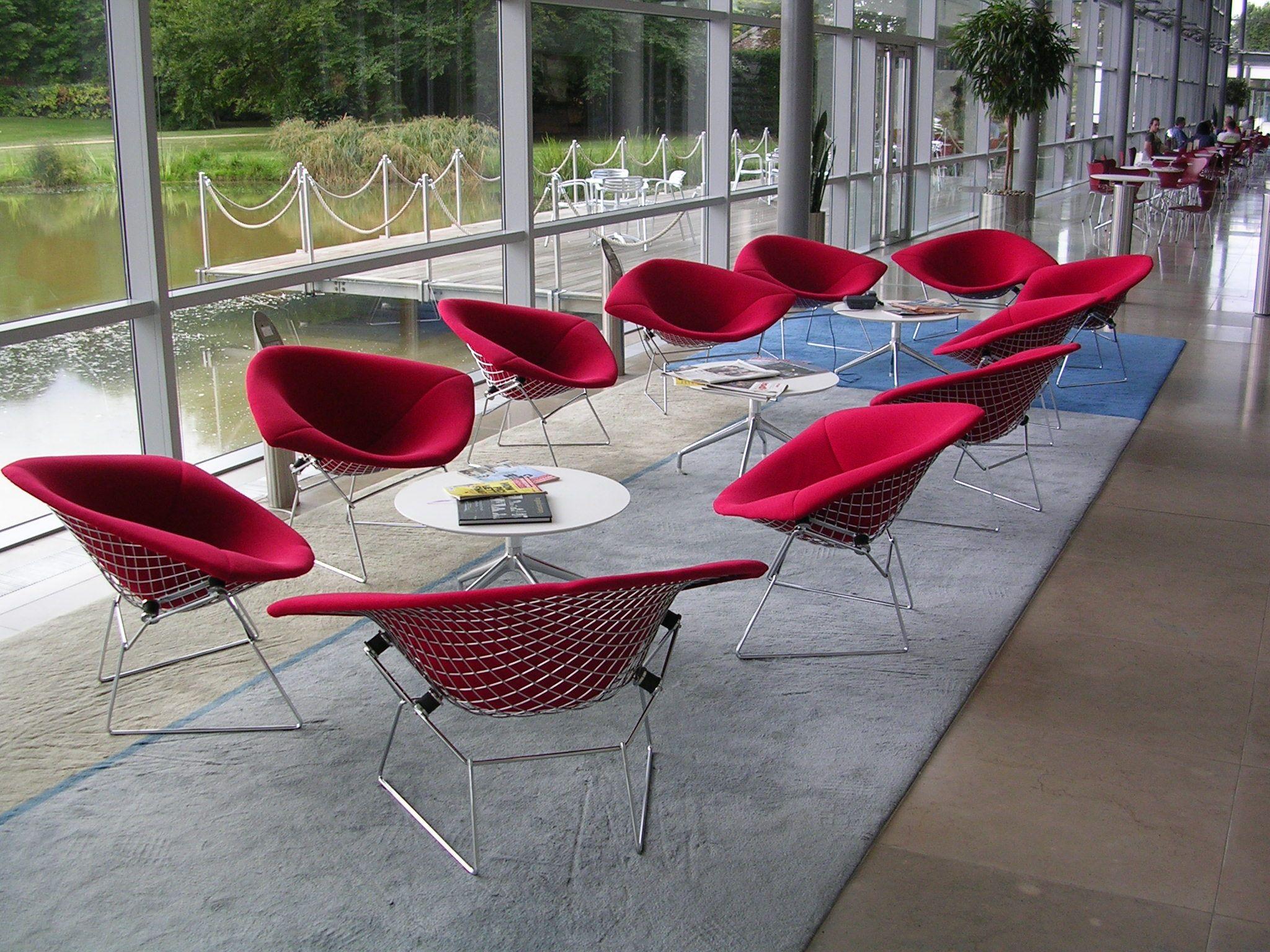 Bertoia diamond chair dimensions - Knoll Bertoia Diamond Chairs