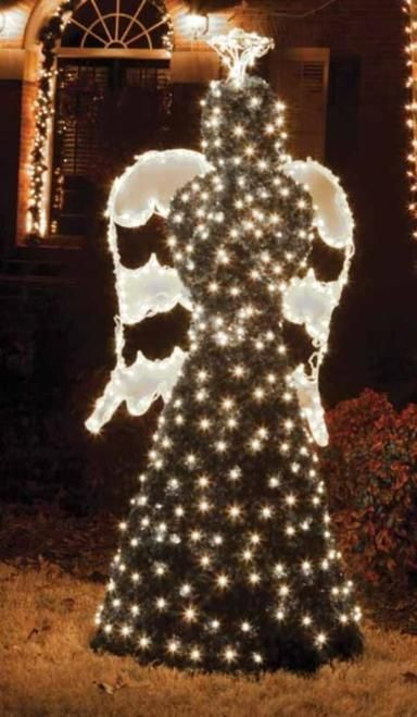 65\u0027 Giant Commercial Grade LED Lighted Angel Topiary Christmas - outdoor angel christmas decorations