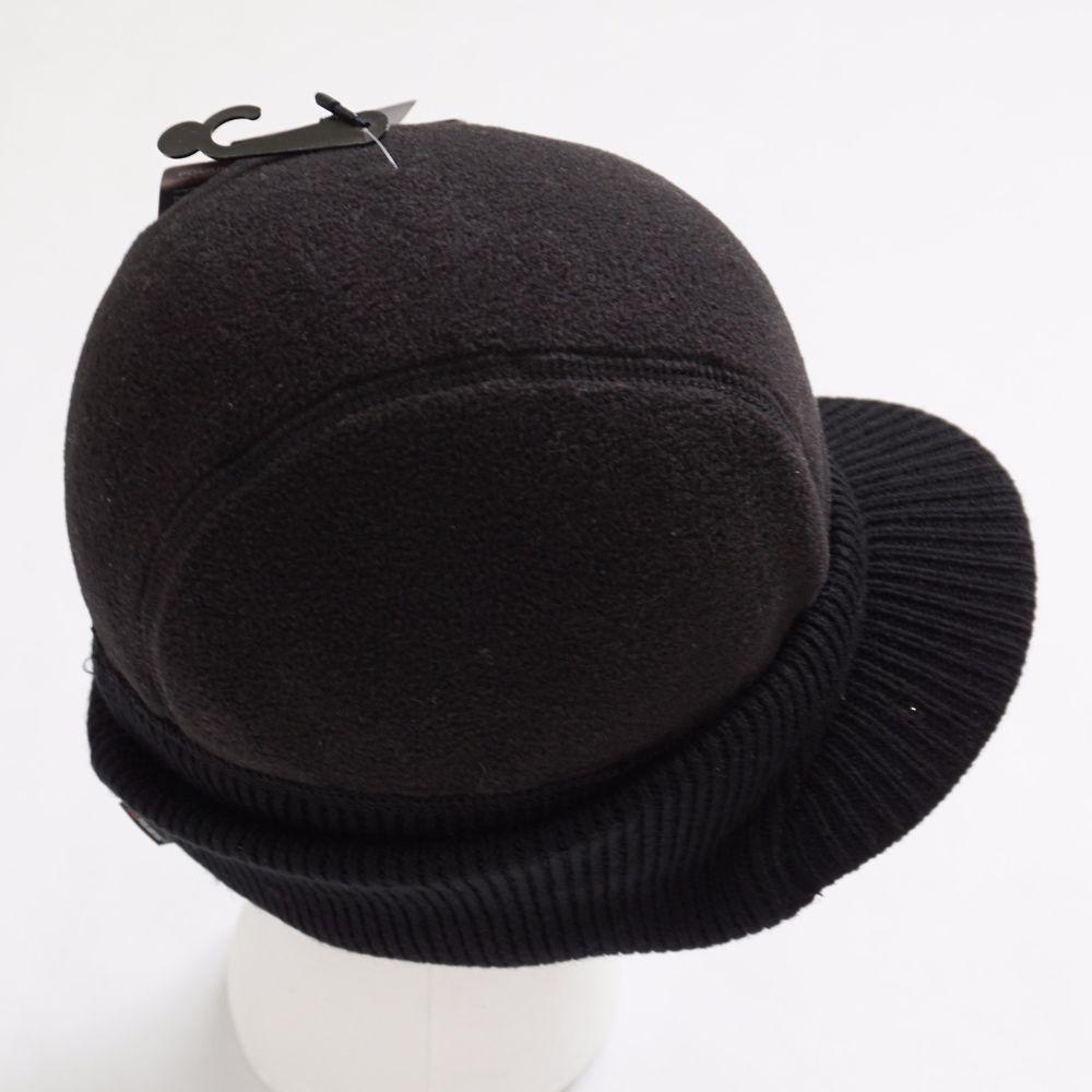 8364d9aab48 Roundtree   Yorke Men Black Polartec Fleece and Wool Winter Radar Hat One  Size  RoundtreeYorke  Visor