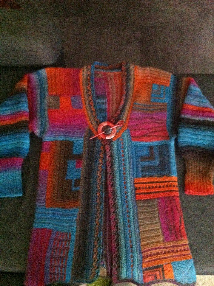 patchwork knit pinterest stricken jacken und strick. Black Bedroom Furniture Sets. Home Design Ideas