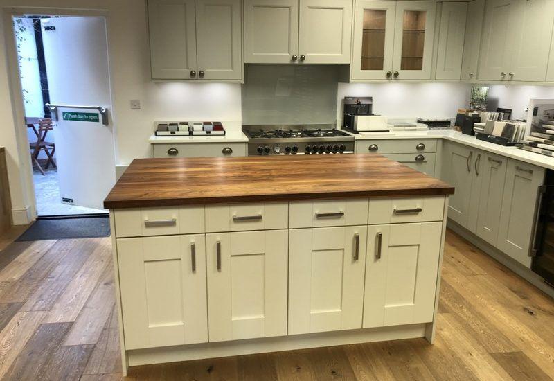 Ex Display In Frame Shaker Style Kitchen Silestone Worktops